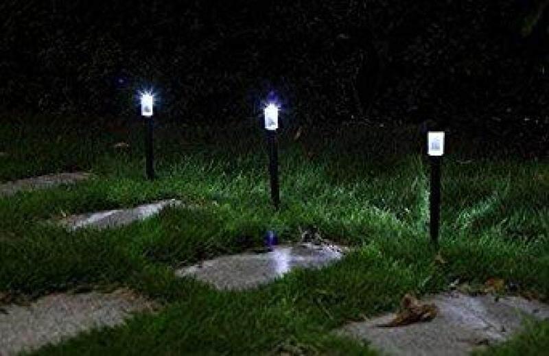Ngôi Nhà Lớn 6Pcs Ngoài Trời Có Thể Sạc Lại Chạy Bằng Năng Lượng Mặt Trời LED Lối Đi Tường Quang Cảnh Núi Hàng Rào Vườn Ánh Sáng Đèn