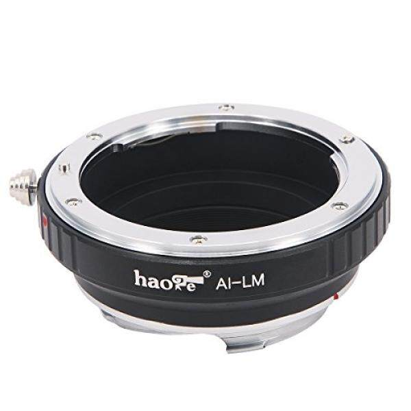 Haoge Lens Mount Adapter for Nikon Nikkor AI / AIS / D Lens to Leica M-mount Camera such as M240, M240P, M262, M3, M2, M1, M4, M5, CL, M6, MP, M7, M8, M9, M9-P, M Monochrom, M-E, M, M-P, M10, M-A - intl