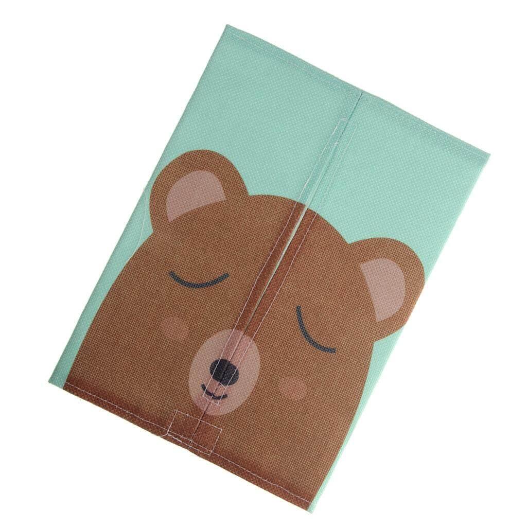 Dolity Cartoon Tissue Paper Storage Box Home Car Napkin Case Cover Holder Bear