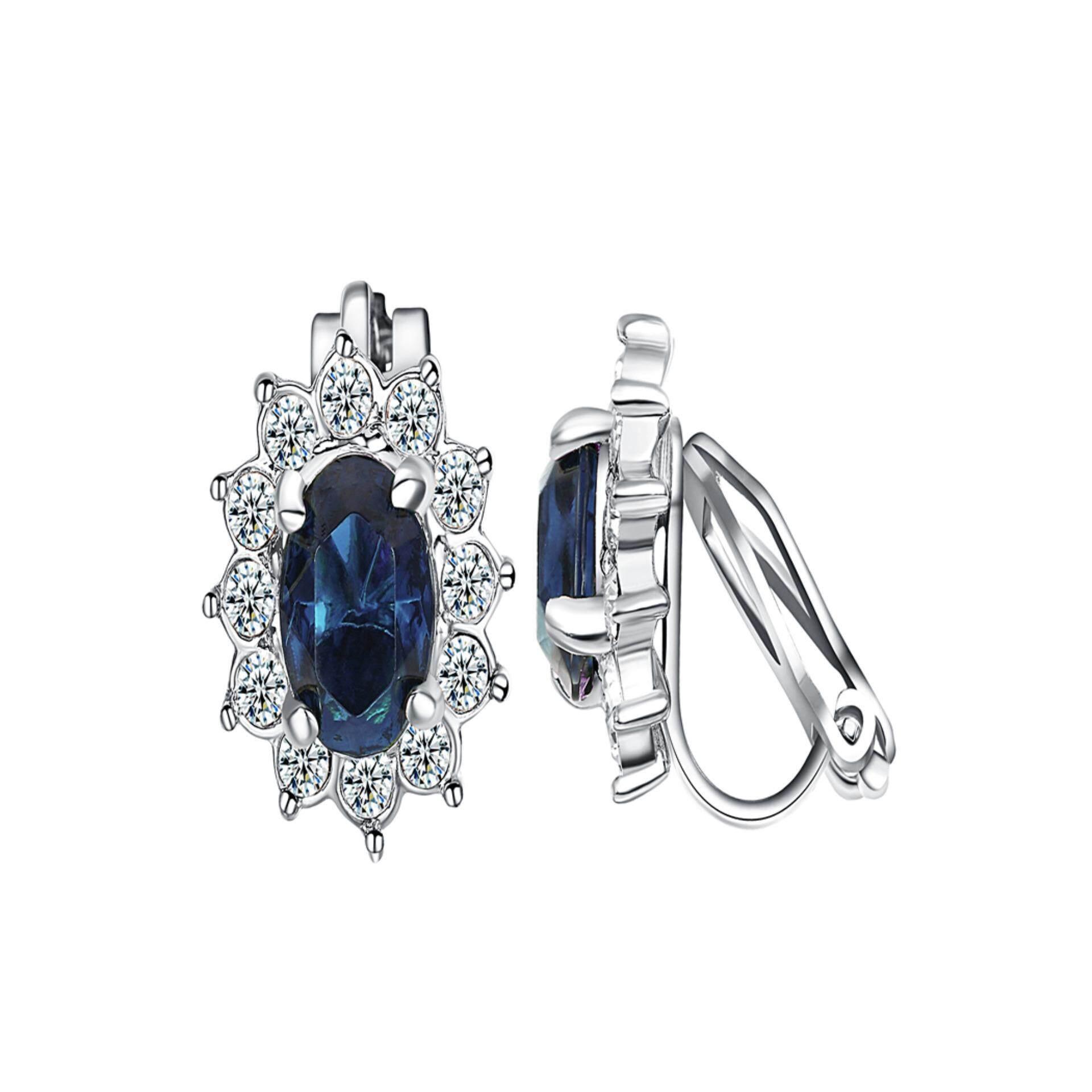 Yoursfs Kristal Klip Perempuan Di Anting-Anting 18 K Mawar Emas Berlapis Perhiasan Fashion Unik