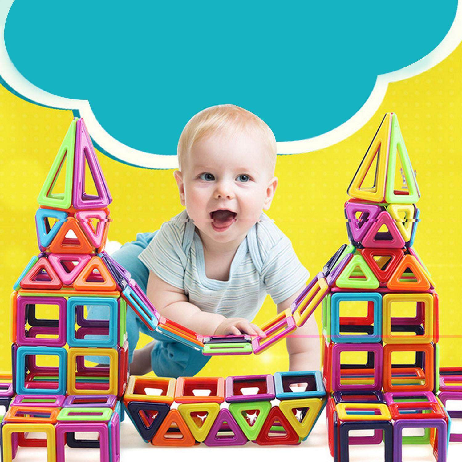 Elek 76pcs Magnetic Blocks Building Set Kids Building Construction Stacking Blocks Educational Toys Kit For Kindergarten Children Kids Random Color By Elek.