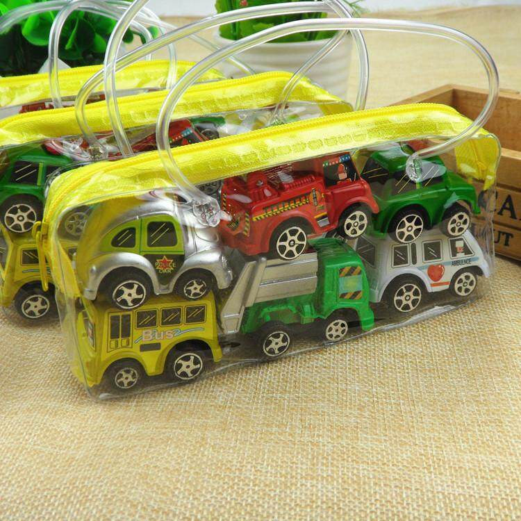 6pcs Pullback Cartoon Car Toy Inertia Pullback Car Toy Set For Kids And Toddlers Specification:1 Bags And 6 Loads By Qimiao Store.