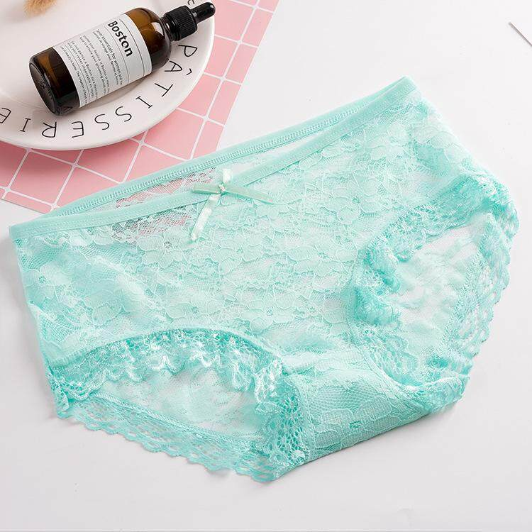 5 Pieces of Bow Lace Comfortable Breathe Freely Women Ladies Panties Underwear