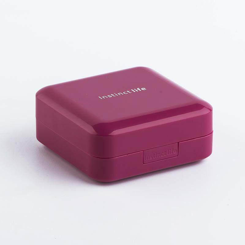 Small Medicine Box Portable Large Capacity Mini with Drug Cutter One Week Travel Seal Moisture-Proof Pills Sub-yao Box