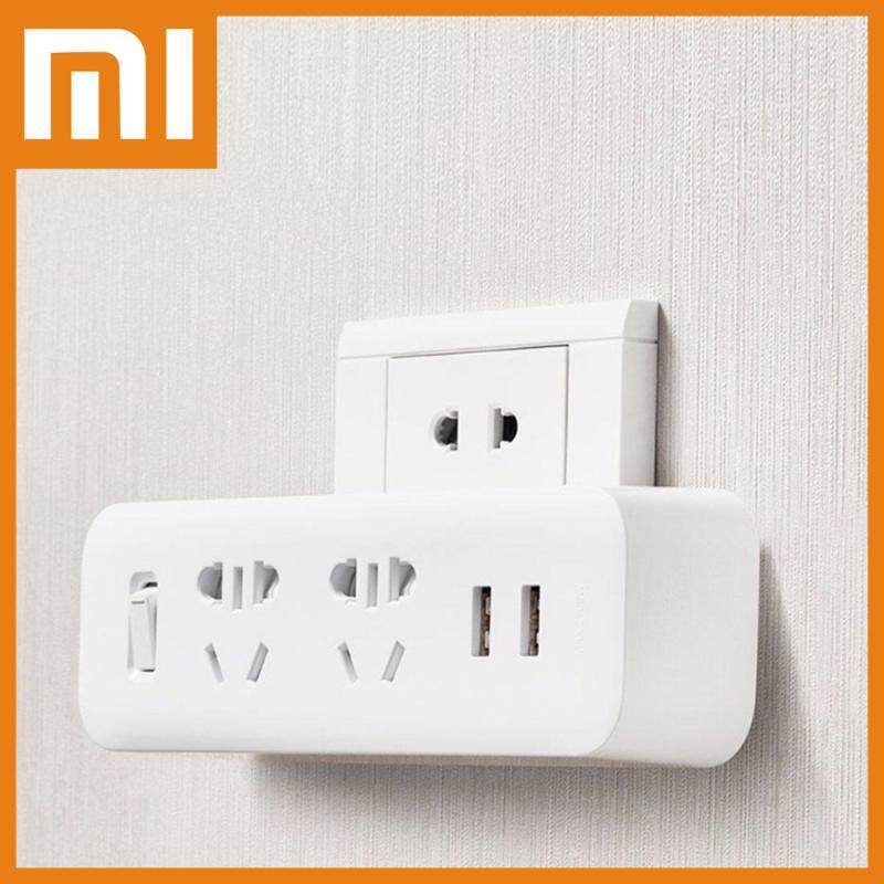 Original Xiaomi Mijia Power Strip Converter Portable Plug Travel Adapter with 5V / 2.1A Dual USB Fast Charging Ports for Home, Office