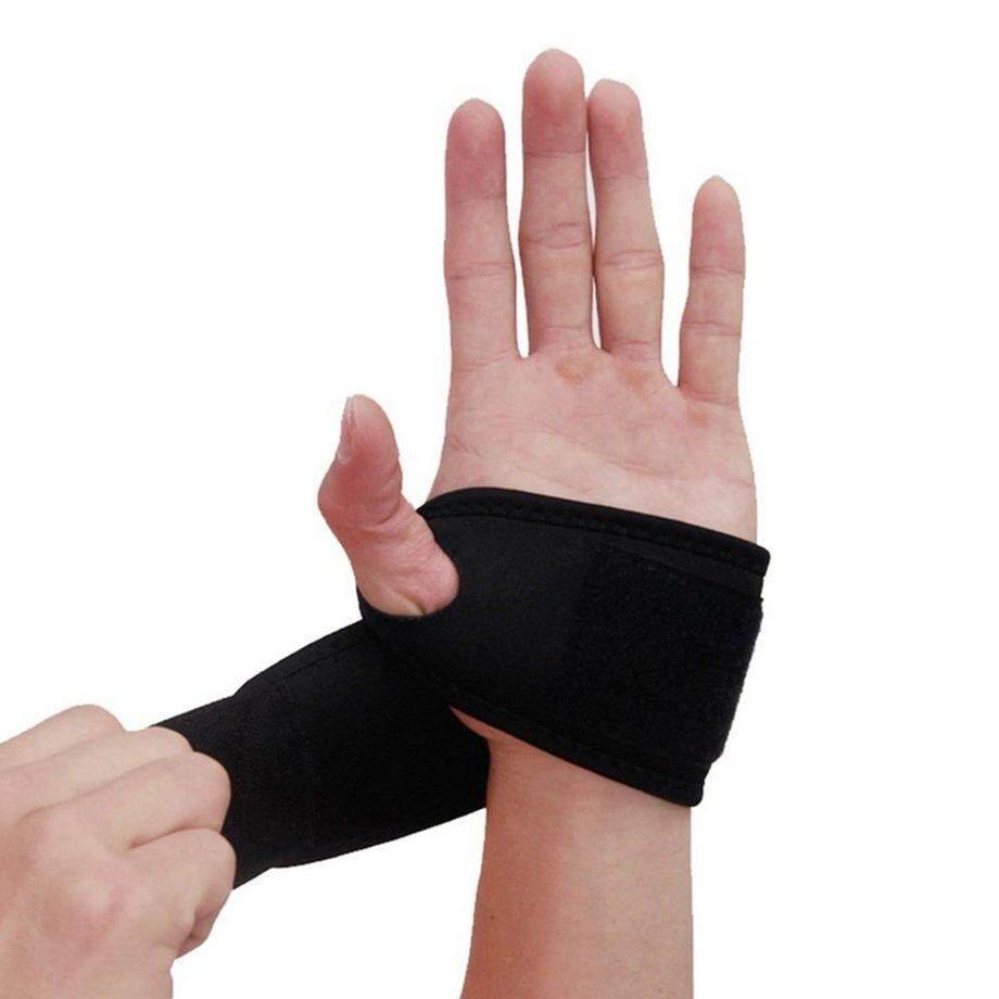 E-ERA Dapat Disesuaikan Pelindung Gelang Olahraga Penyangga Pergelangan Tangan Bersirkulasi Brace Wrap