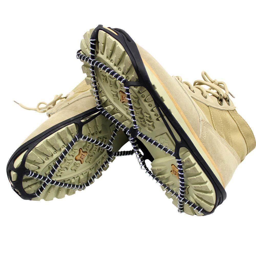 Nostalgia Es Cleat Salju Paku Crampon Anti Slip Lolita Sepatu Bergigi untuk Musim Dingin Jalan-jalan Pendakian Gunung, menempel Di SEPATU/Sepatu untuk Setiap Hari Safety Di Musim Dingin Luar Ruangan, Medan Licin