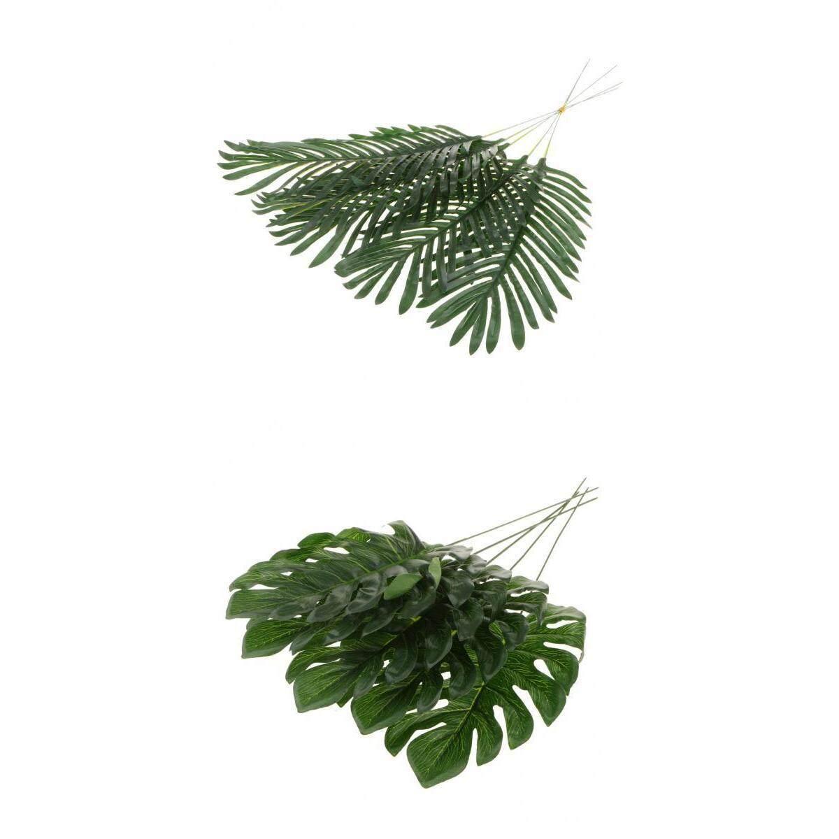BolehDeals Set 10 Big Tropical Leaves Artificial Palm for Hawaiian Summer Party BBQ Decoration