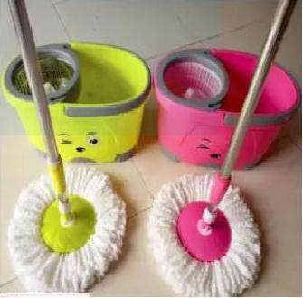 SHEEP SPIN MOP (STAINLESS STEEL) - DRY/WET MOP (GREEN)