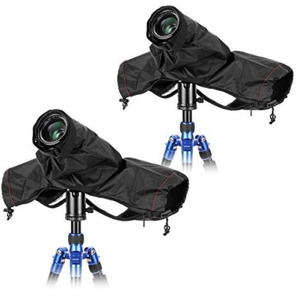 Neewer 2 Pack Kamera Profesional Pelindung Hujan Pelindung dengan Lengan debu Air Nilon Tahan Hujan untuk Besar Canon, Nikon, Sony, Pentax, Sigma tamron dan Kamera DSLR (Hitam)-Intl