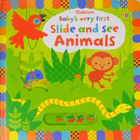 Usborne Babys Very First Slide And See - Animals By Go Mummybaby.