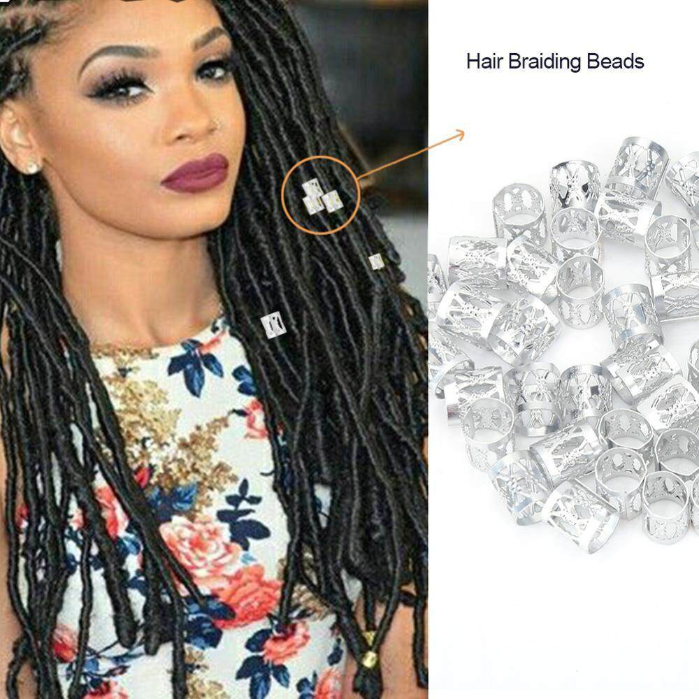 3 Types Adjustable Metal Hair Braid Beads Rings Cuff Hair Beauty Decoration Tools Accessories - intl