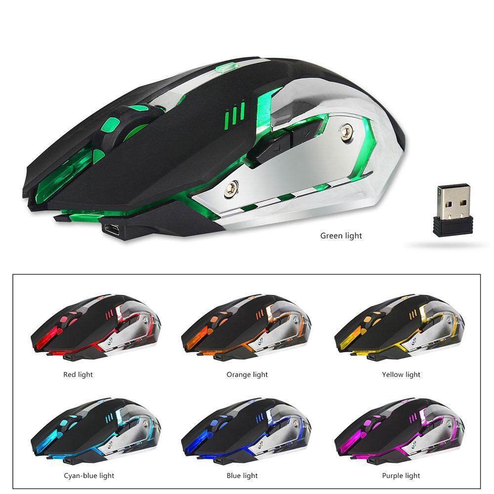 noonbof 2.4G Gaming Mouse, 2400 DPI Wired Programmable Buttons Optical Mice with Colorful Breathing LED Backlight for Gamer PC, Laptop, Notebook, Computer, Macbook
