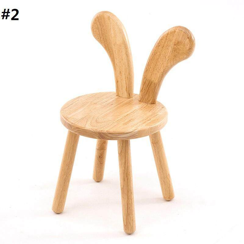 WT Childrens Home Wooden Bench Baby Dining Chair Stool