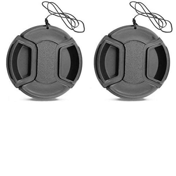 2 Pack 40.5mm Center Pinch Lens Cap for a6000 a6500 NEX-6/6L E-mount 16-50mm F3.5-5.6 Lens / Nikon 1 10-30mm, 30-110mm, 10mm Lenses / Olympus 14-42mm f/3.5-5.6 Zuiko Lens
