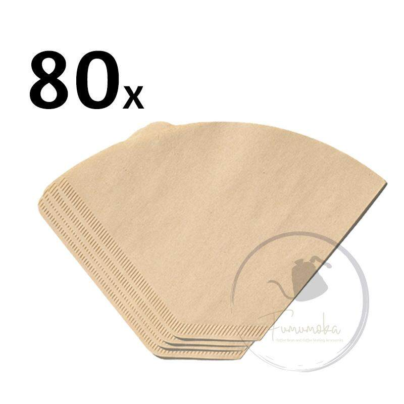 Fumumoka MCPF80 Coffee Filter Paper for Hand-Poured Drip Brew Coffee Filter Drip Cup x 80pcs