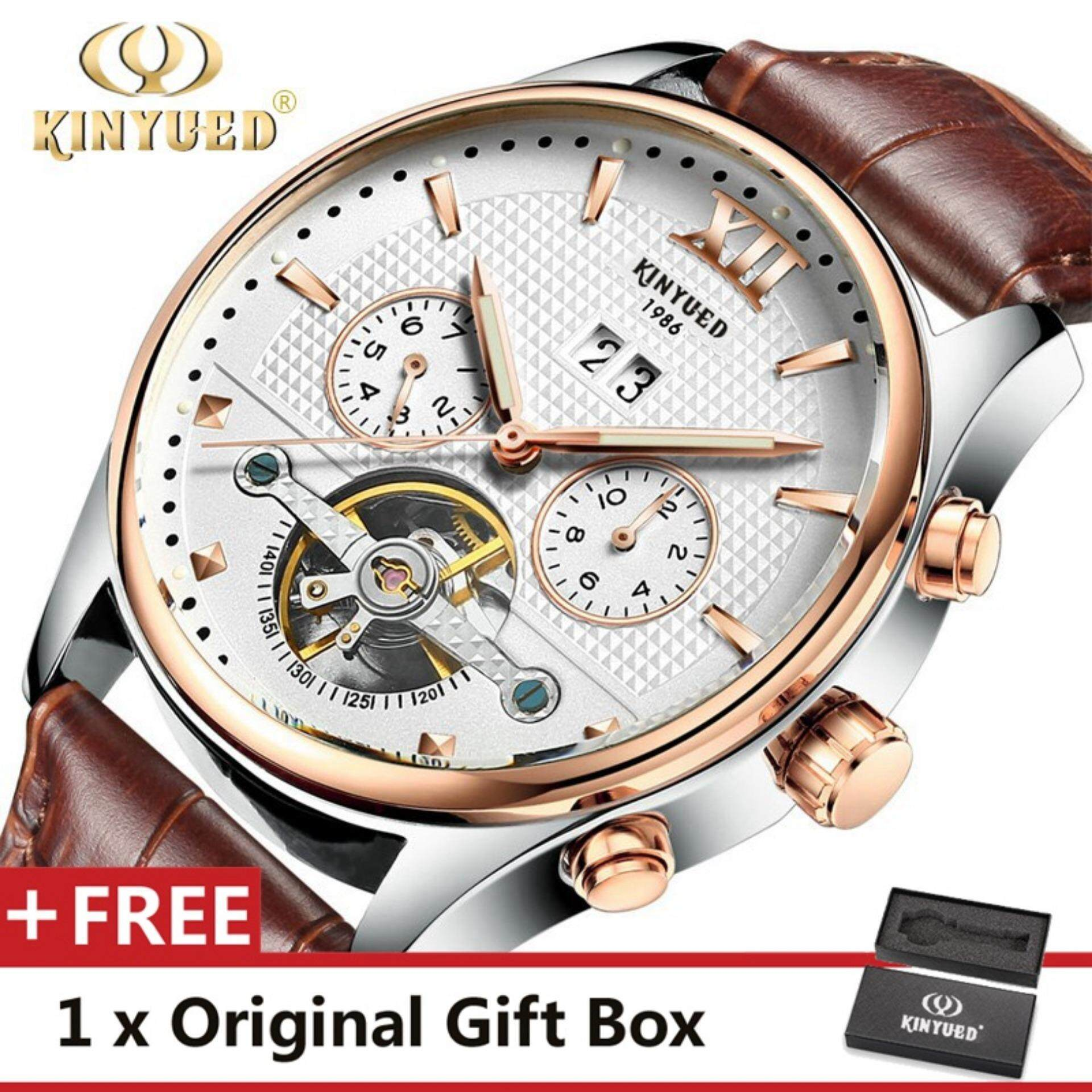 watches luxury male wristwatch from watch phase sun business moon mens item hollow steel automatic mechanical stainless in brand tourbillon