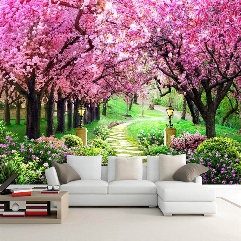 wall stickers for sale wall decals prices, brands \u0026 review incustom wallpaper sticker romantic cherry bloss for living room sofa tv 3d mural wallpaper home decoration