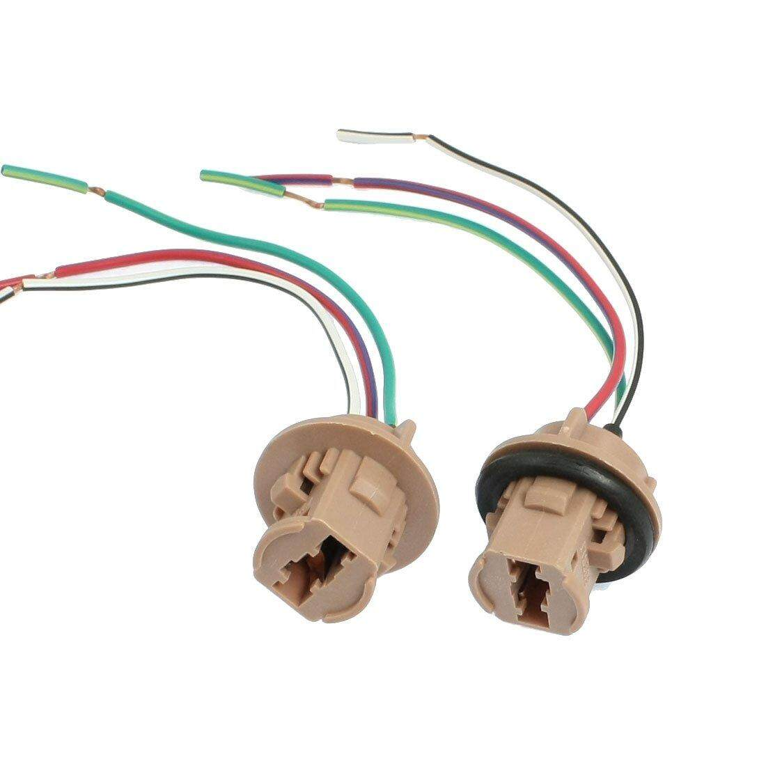 Features 2 Pcs T20 7443 Led Bulb Brake Turn Signal Light Sockets Wiring Harness Plug Wire Plugs