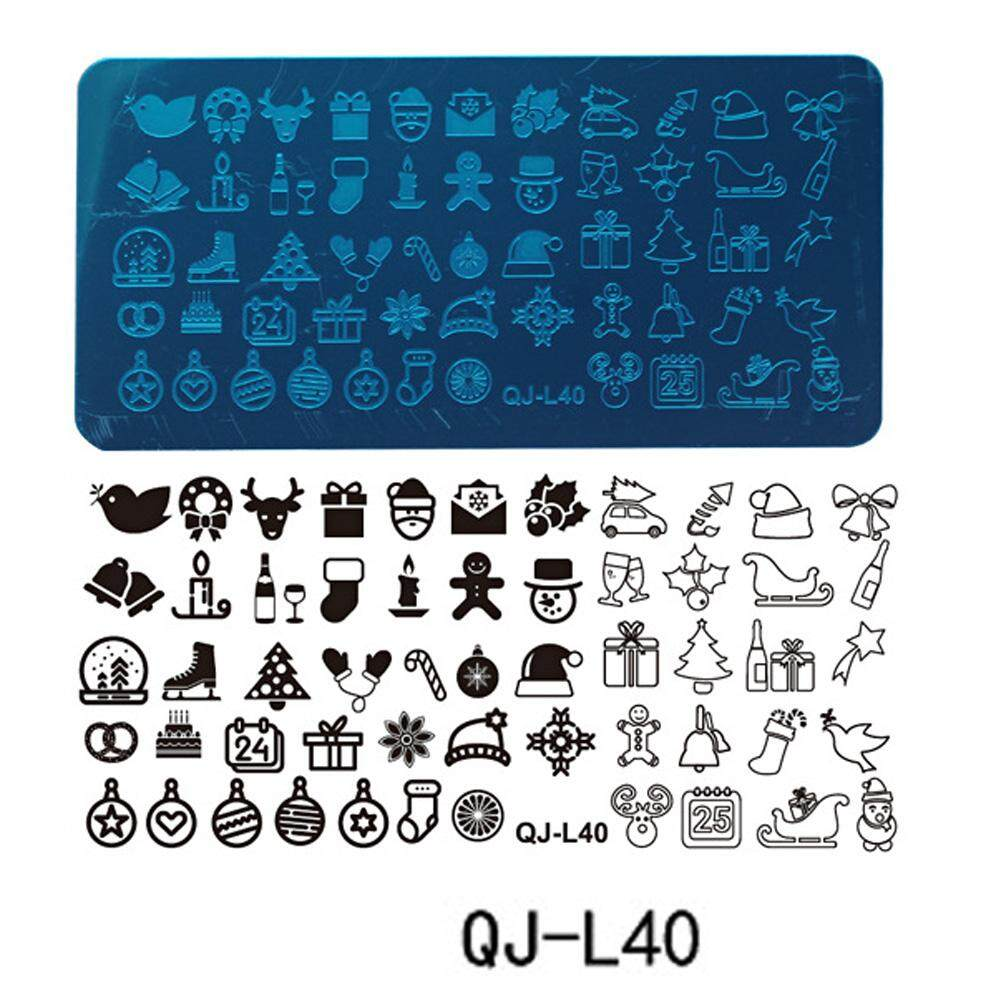Image Plate DIY Christmas Theme Stencil Scraper Rectangular Stamping Plate Philippines