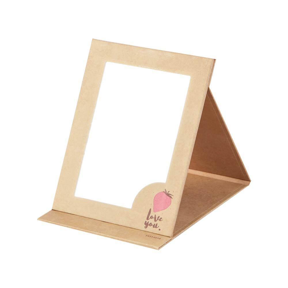 Teekeer Simple Desktop Foldable Portable Makeup Mirror Travel Straightened Makeup Mirror(S,12.5*9cm) - intl Philippines