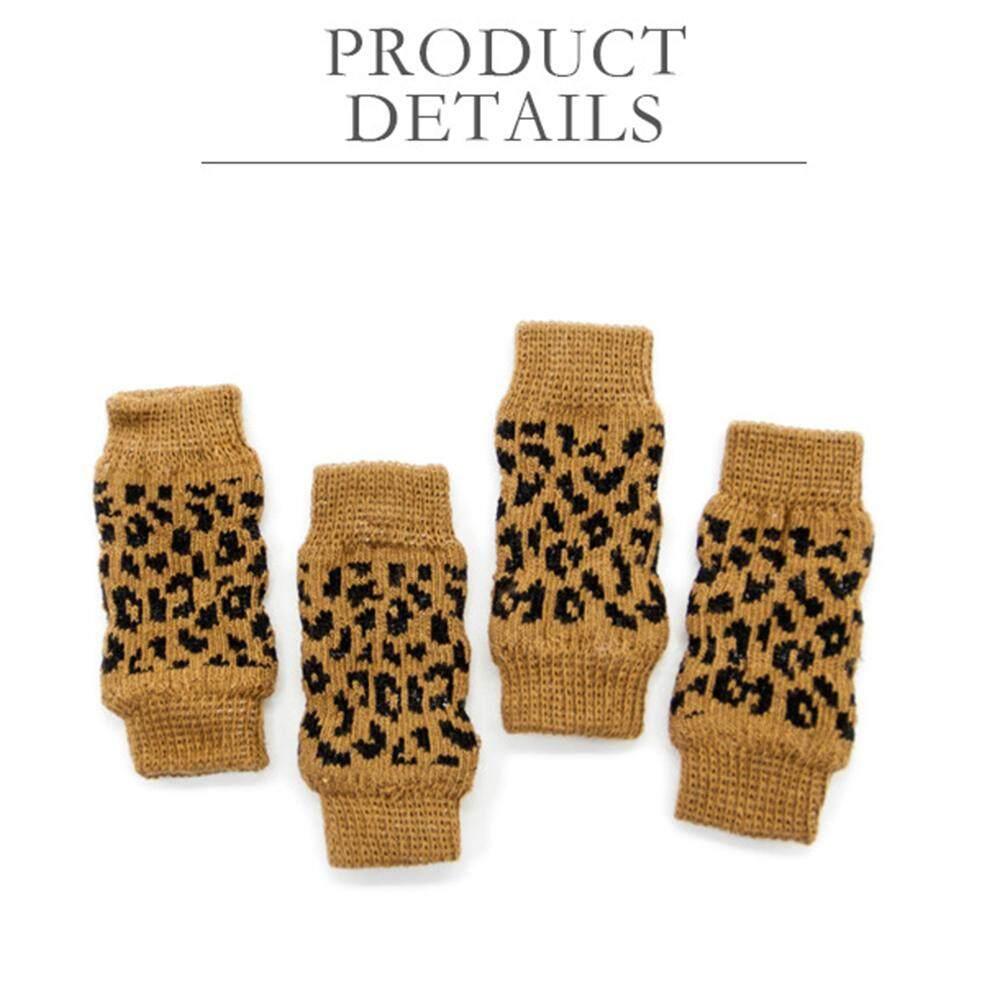 Bintang 4 Pcs/set Hewan Peliharaan Tempurung Lutut Kaus Kaki Pelindung Kaki Cedera Kaki Pelindung Lengan Melindungi Luka Untuk Hewan Peliharaan Stype: Macan Tutul Cetak (xl) By Star Mall.