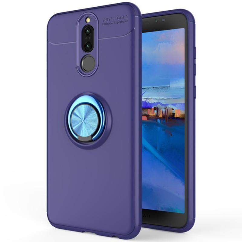 For Huawei Nova 2i Case, Luxury Colorful Metal Magnetic Ring Soft Silicone Cover Phone Casing