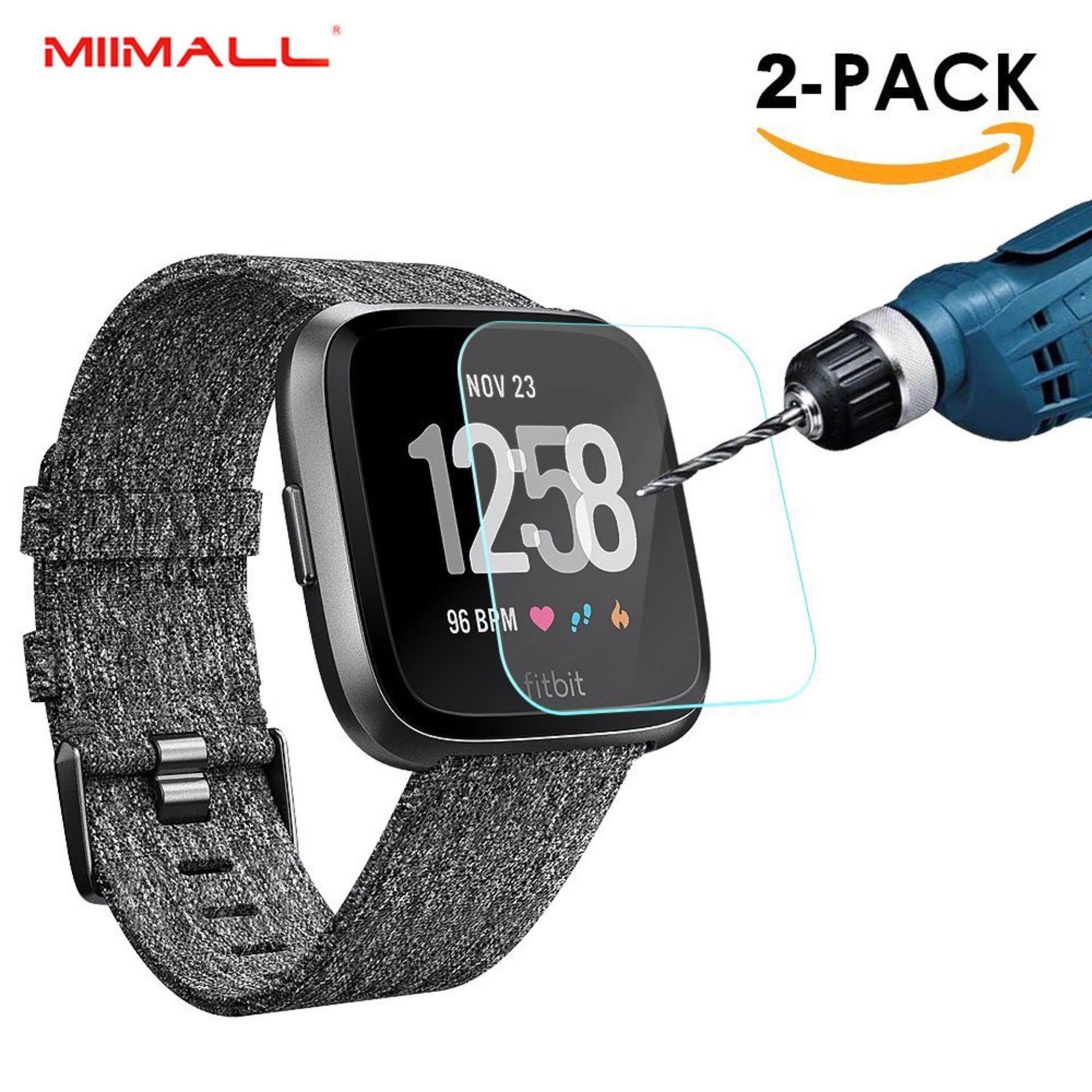 Buy 2 Pack Miimall Fitbit Versa Screen Protector Premium Hd Clear 9H Hardness Tempered Glass Screen Protector Film For Fitbit Versa Smart Watch Crystal Clear Miimall
