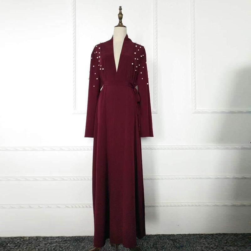 Outlet Trend มุสลิมไข่มุกทำด้วยมือเสื้อคลุมคาร์ดิแกนกำไลสไตล์ตะวันออกกลางชุด By Outlet Wf.