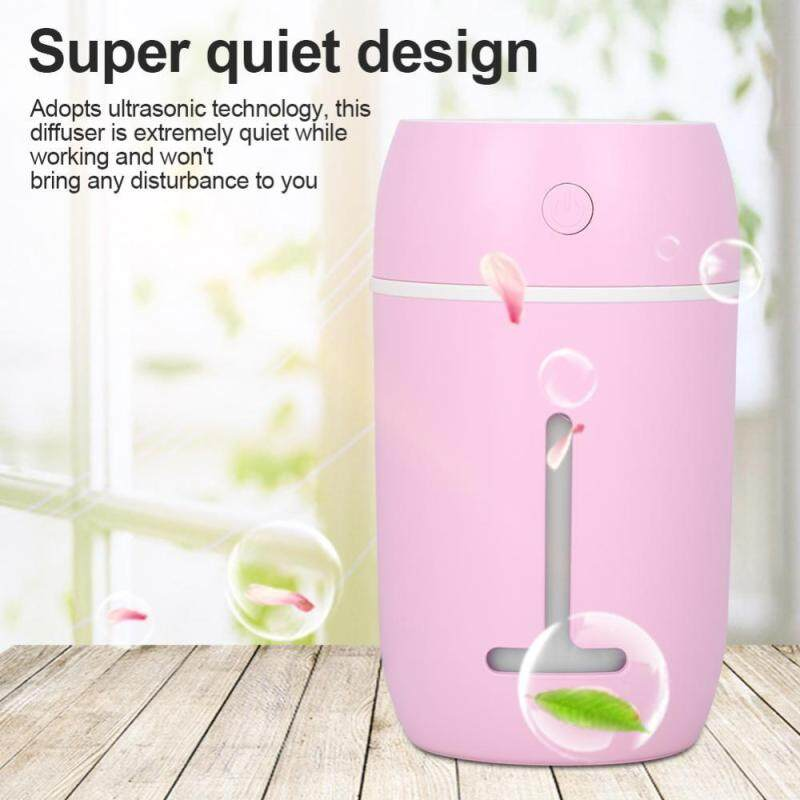 Bảng giá minxin Portable Ultrasonic Humidifier Diffuser Colorful LED Light Car Office with USB Cable Pink