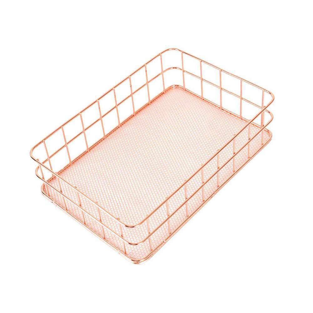 HONGHUI Storage Basket,Convenient Home Organization Solution for Office,Bedroom,Closet,Toys,Laundry Small and Large,Gold - intl