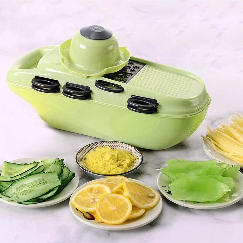 Migecon 7 Lưỡi Dao Mandoline Máy Thái Bằng Tay Rau Salad Máy Làm Khoai Tây Kéo Cắt Hành Phụ Kiện Nhà Bếp Tiện Ích