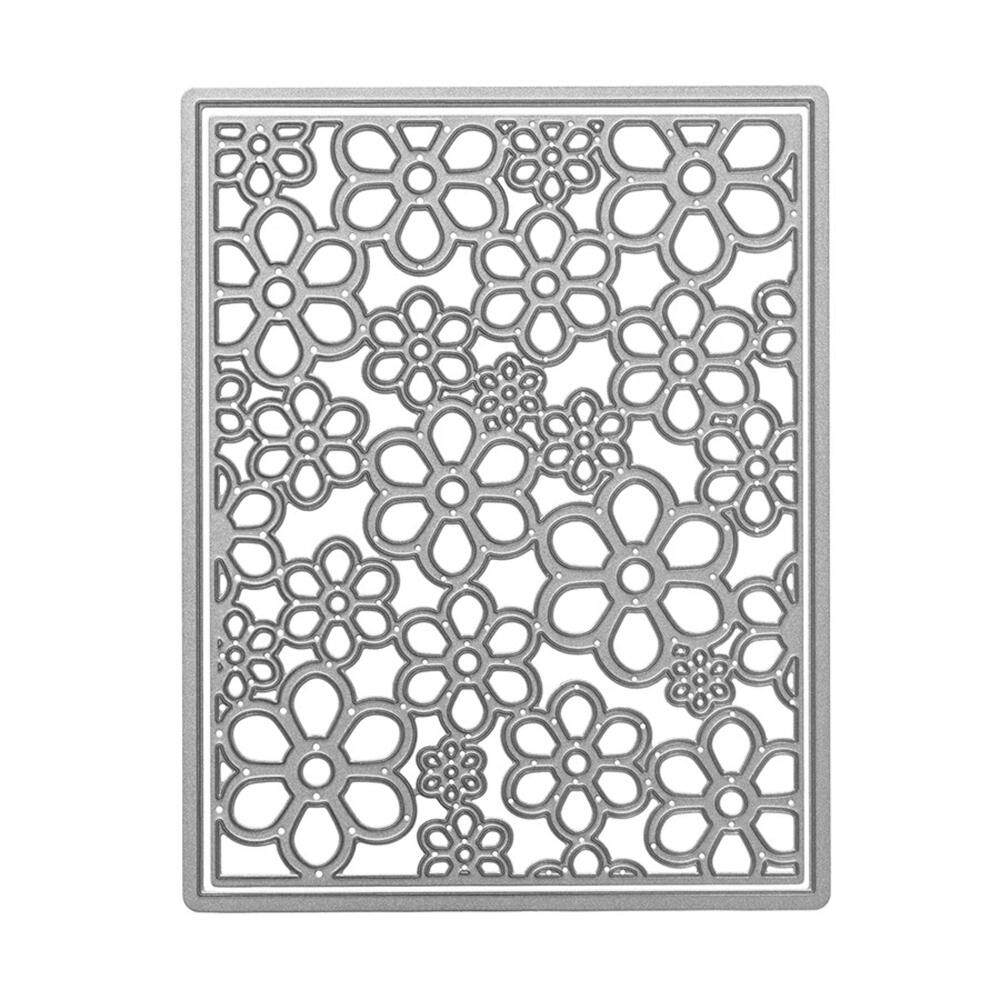 Blackhorse Cute Mould Metal Die Cutting Template Dies Stencil For Diy Scrapbook Album Paper Card Craft Cd866 (jam038)flower Background Etched Dies 111*140mm By Blackhorse.