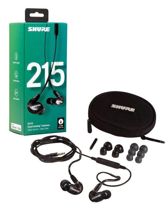 6a1bf7fed4d Shure SE215 Sound Isolating In-Ear DJ Monitoring Earphones With Mic Black