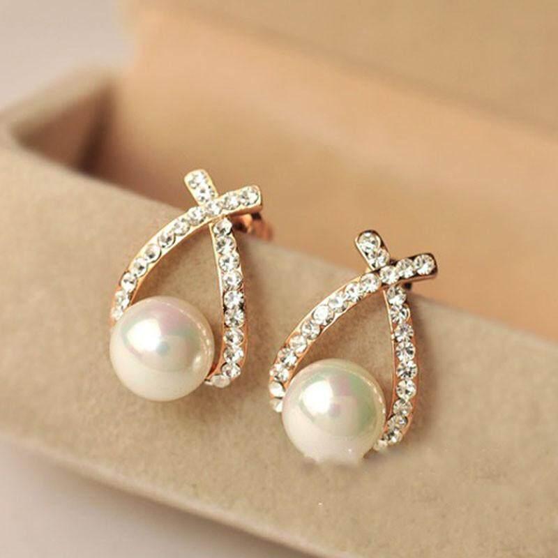 Detail Gambar RADOCIE 1 Pair Elegant Women Lady Fashion Crystal Rhinestone Ear Stud Earrings Terbaru