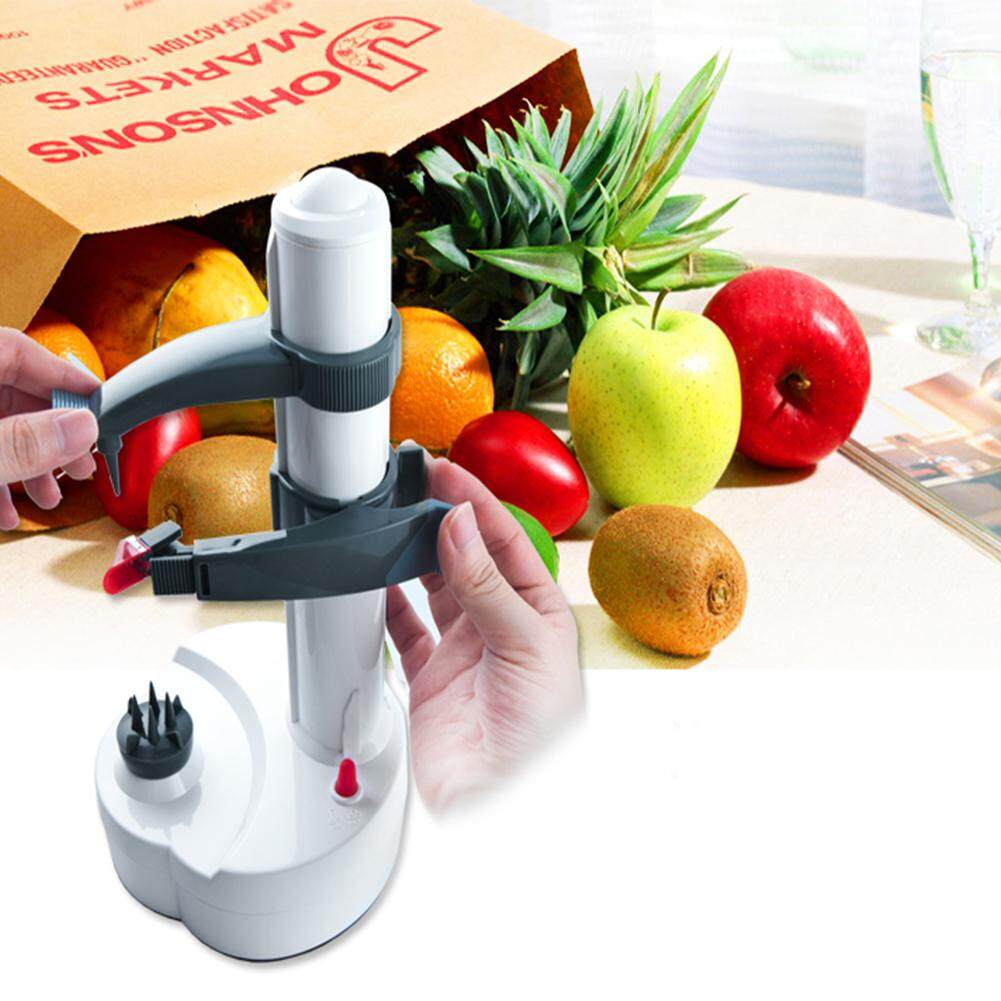 14*29CM Automatic Peeler Creative Peeling Machine for Fruit Vegetables Kitchen Tool  Style:US power adapter
