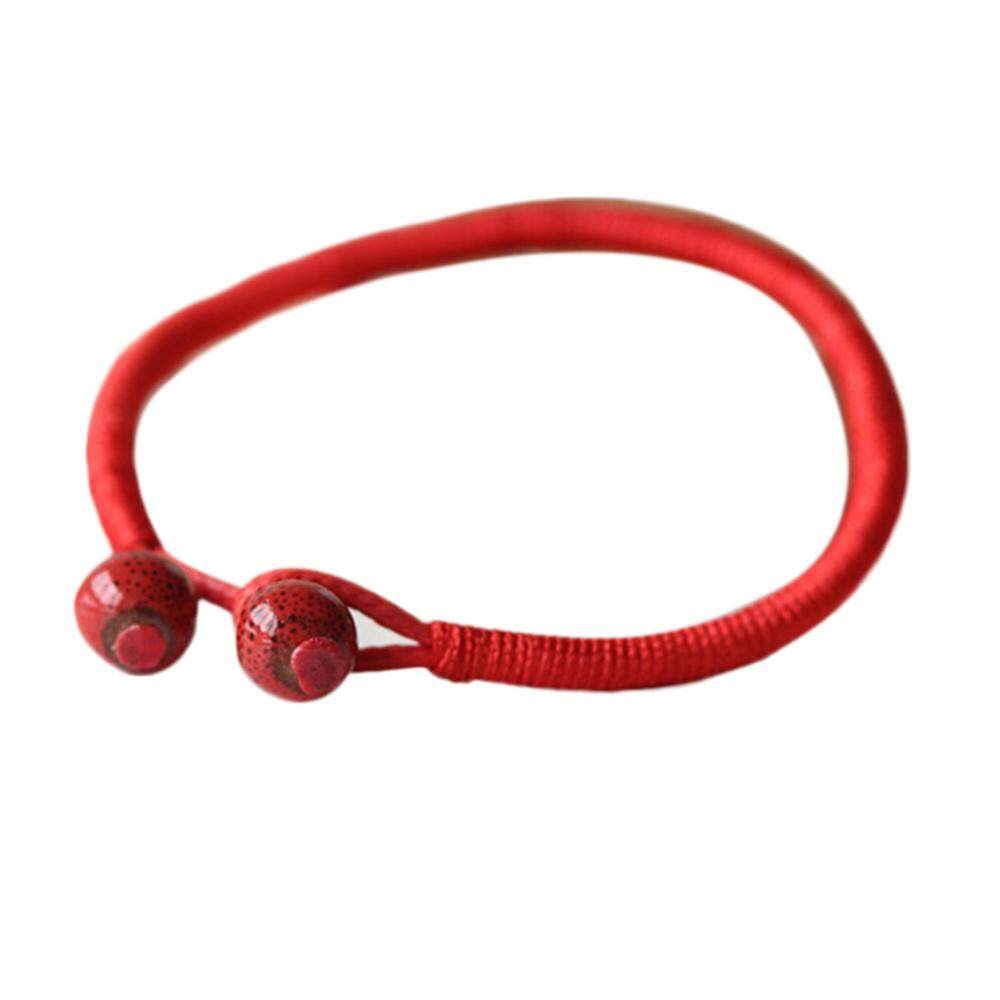 Lucky Bead Red String Ceramic Retro Vintage Bracelet Jewelry Unisex Ornament By Mayler Store.