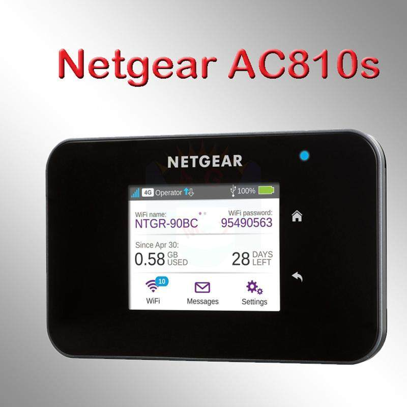 Original Unlocked Netgear Aircard AC810S 810S Cat11 600Mbps 4GX Advanced  III 4G LTE MiFi Mobile Hotspot wifi Router