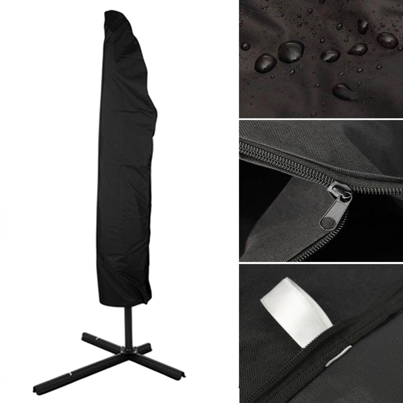 Outdoor Waterproof Oxford Cloth Parasol Cover Garden Umbrella Protector with Zipper 265cm