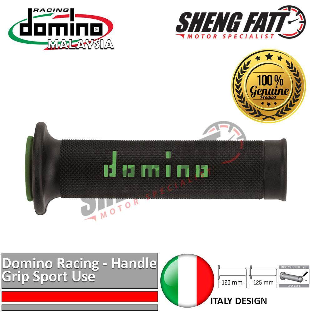 "Domino Universal Handle Bar 7/8"" Motorcycle Racing Throttle Grips MotoGP handlebar Green [ORIGINAL]"