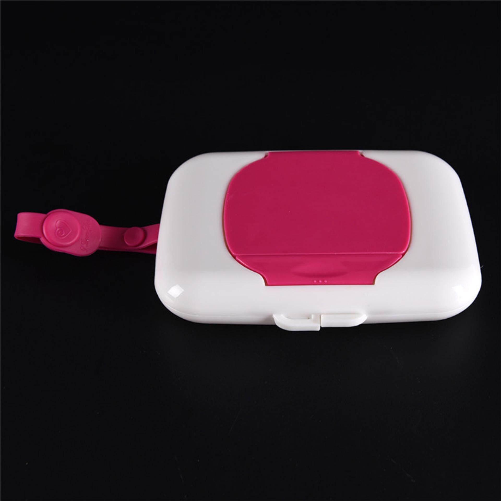 Baby Travel Wipe Case Child Wet Wipes Box Changing Dispenser Storage Holder Pink - Intl By A Mango.