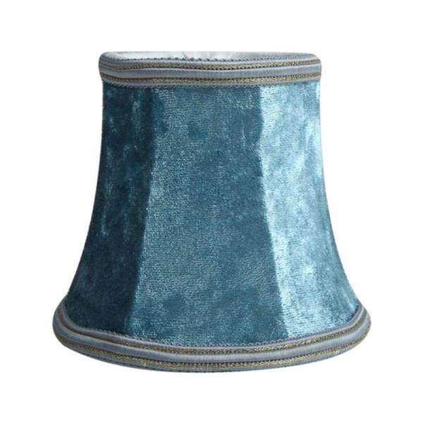 Fabric Clip On Lamp Shade, E14 Handmade Lampshade For Modern European Style Wall Sconce Lamp, Crystal Lamp, Candle Lamp, Table Lamp With Blue Flannel Decor (Blue)