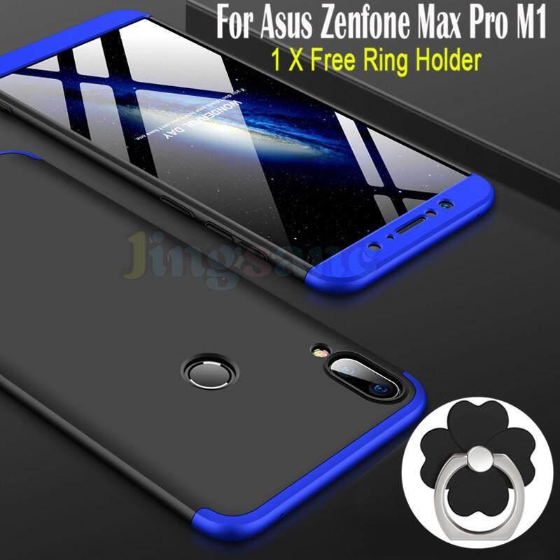 Untuk Asus ZenFone Max Pro M1 [Gratis Dudukan Cincin] Luxury 360 Gelar Penuh Melindungi