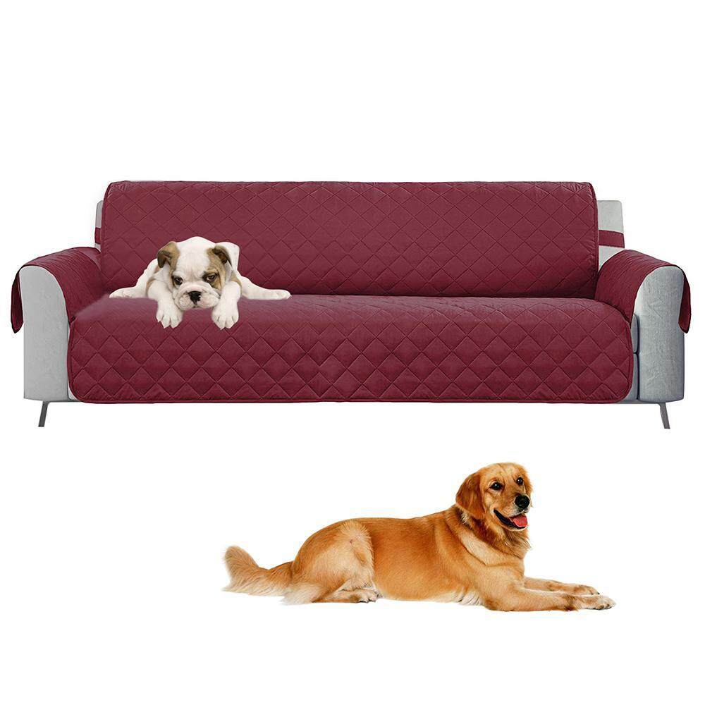 KACOO 3 Seater Sofa Slipcovers, Professional Non Slip Quilted Pet Sofa Protector Cover, Seat Width 66 Reversible Wear Resistant and Waterproof Furniture Protector