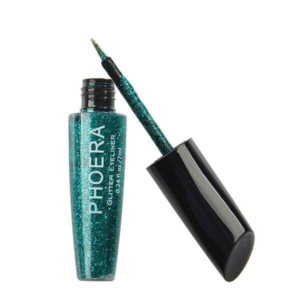 Wanita Logam Mengkilap Pemulas Mata Eyeliner Glitter Kosmetik Makeup Cair Eyeliner untuk Kecantikan (Turquoise Green