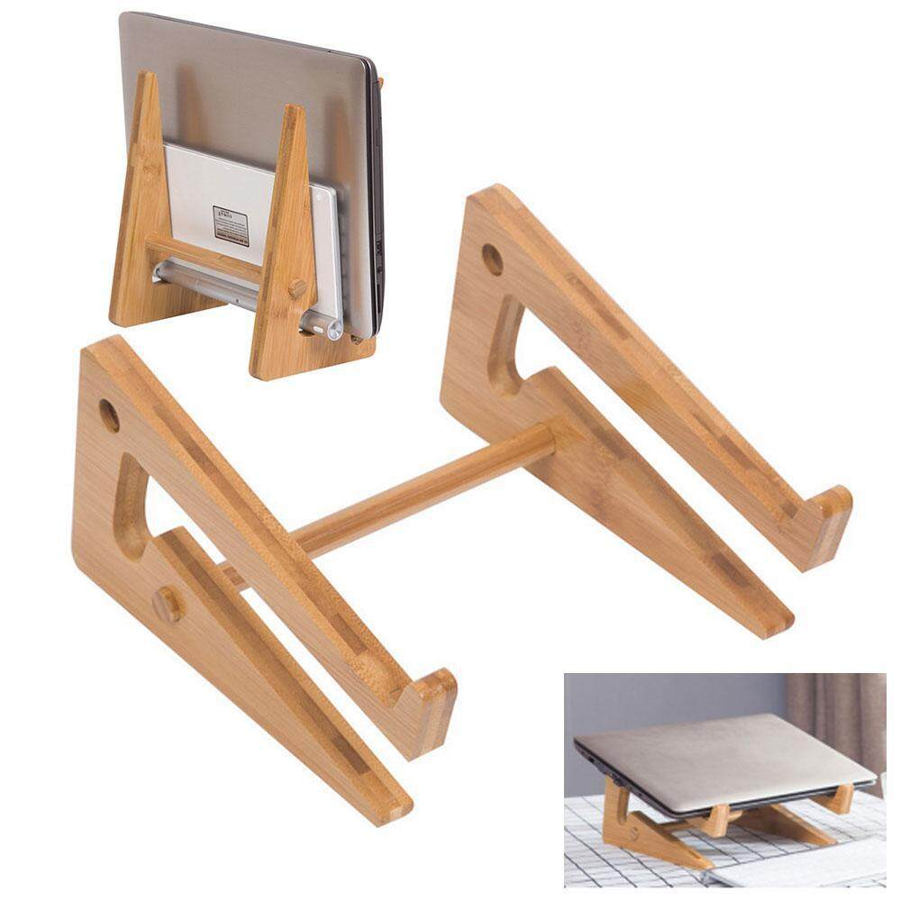 Auoker Adjustable Laptop Stand Portable Computer Stand Holder For Desk, Bed, A-pple IMac , I-Pad Air, De-ll, Len-ovo, Tab-let Phone Holder, Foldable Notebook Stand (1 Pack/Bamboo)