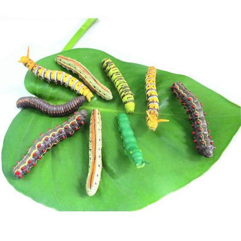 6 Yang Berbeda untuk Satu Set Baru Mainan Kreatif Grosir 7 Cm Simulasi Caterpillar Simulasi Topeng Horor Menyeramkan Hewan