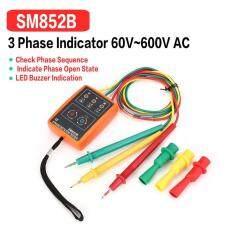 OSMAN SM852B 3 Phase Rotation Sequence Indicator Meter Tester Detector 60V-600V 3Pcs Free Shipping