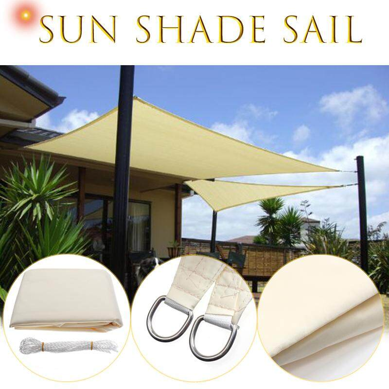 Shade Sail 3.5X3.5m Square Sun Canopy Patio Awning Waterproof 90% UV Shelter - intl