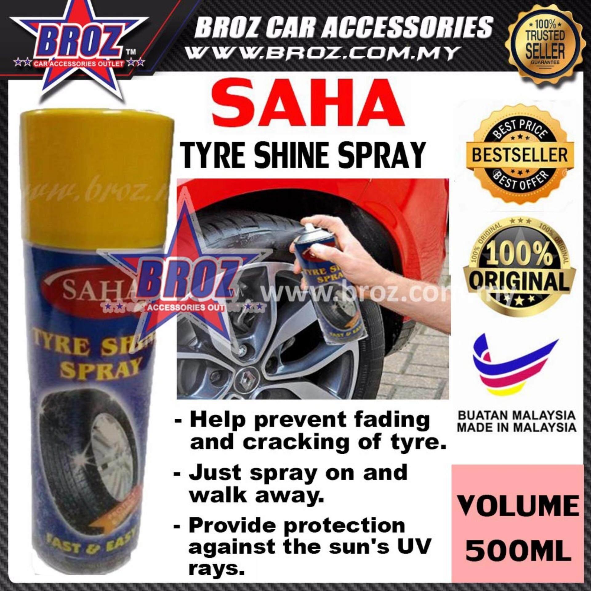 Broz SAHA Tyre Shine Spray Protect & Shine 500ML